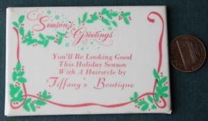 1970s Nashville,Tennessee Tiffany's Boutique Christmas calendar pocket mirror!*