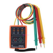 SM852B 3 Phase Sequence Rotation Tester Indicator Detector Meter with LED Buzzer