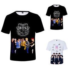 Kpop BTS Tshirt Bangtan Boys Short Sleeve T-shirt Jungkook V RM Casual Tee Tops