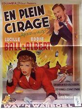 """LUCILLE BALL & EDDIE ALBERT - """"FULLER BRUSH GIRL"""" MINI POSTER FROM BELGIUM"""