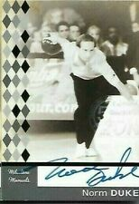 Norm Duke Milestone Moments PBA autograph card by TK Legacy