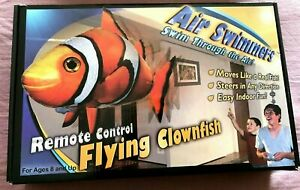 Air Swimmers Remote Control Flying ClownFish For Age 8 And Up New.
