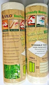 Eco friendly Bamboo Towel Rolls Set Of 2 Brand New