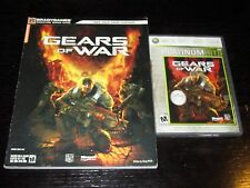 Gears of War (Xbox 360, 2006) with Official Guide - Fold Out Poster