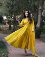 Indian kurta dress With dupatta Eid Flare Top Tunic Set blouse Combo Ethnic eid