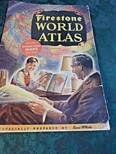 1942 Rand McNally/Firestone World Atlas-40 Double Map Color Pages-Free Shipping