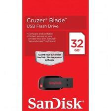 Original Sandisk Cruzer Blade 32GB 32G CZ50 USB 2.0 Flash Thumb Drive Retail
