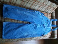 Key Imperial Mens Size 40x28 (Actual 42x24.5) Lighter Fade Thick Cloth Overalls