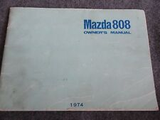 1974 Mazda 808 Owners Manual