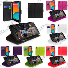 Cover Custodia A Portafoglio In Pelle Supporto Video LG Google Nexus 5 E980