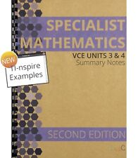 2018 Specialist Mathematics Units 3&4 Summary Notes - 2ND EDITION with TI-nspire