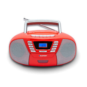 Blaupunkt Kinder CD Spieler Radio Player Kassetten Rekorder Bluetooth USB rot