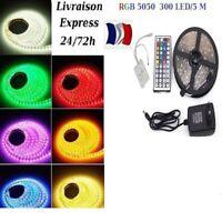 1-30 m Bande LED Strip flexible RGB Lumière Ruban 5050 SMD 60 led/m livré ss 48h