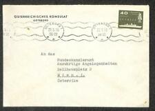 Goteborg Sweden Stamp To Vienna Austria Sweden Diplomatic Mail Cover 1958