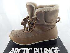 Arctic Plunge Women's Eliora Winter Boot Faux Suede & Leather  Wmn Sz 7.5M