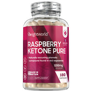 Himbeer Ketone Pure - Fatburner zum Abnehmen & Diät - 180 Kapseln