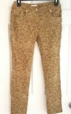 ERIC Womens Jeans Size 2 Damask 5 Pocket Stretchy Lightweight Soft High Rise