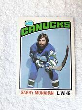 1976-77 O-Pee-Chee  GARRY MONAHAN Vancouver Canucks Card #295