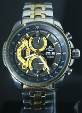 "PRE-OWNED CASIO EDIFICE EF-558 ""CHRONOGRAPH"" QUARTZ MEN'S WATCH JAPAN MOV'T"