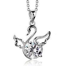 Oro Blanco Acabado Cisne Colgante Collar Niños Niñas Niños Calidad Jewellery UK