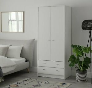 Habitat Malibu 2 Door 2 Drawer Wardrobe - White