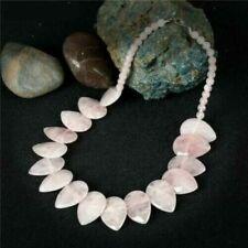 Collares y colgantes de bisutería rosas de piedra