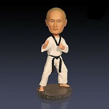 "7"" Russian President Putin Taekwondo Bobble Head Resin Collectible Doll Toy"