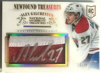2013-14 Alex Galchenyuk Panini Newfound Treasures Autographed Jerseys RC #/25