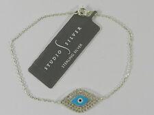 Studio Silver Sterling Silver Bracelet, Crystal Evil Eye Bracelet