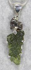 MOLDAVITE PENDANT $118 Tektite 925 Sterling Jewelry STARBORN CREATIONS MP118-M5
