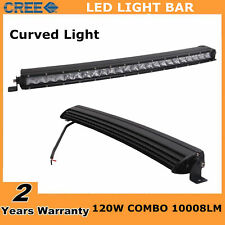 """Slim 25"""" 120W Single Row Cree Curved LED Light Bar Combo Off road Truck UTE Ford"""