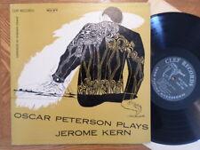 CLEF TRUMPET LP DG MONO RECORD mgc 623/OSCAR PETERSON PLAYS JEROME KERN/ EX