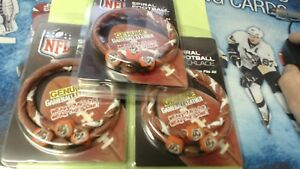 LOT OF 3 CINCINNATI BENGALS Classic NFL Spiral Football Necklace,New In package