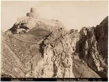 Giovanni Crupi S. Alessio Castle Taormina Sicily Large vintage photo 1890c L171