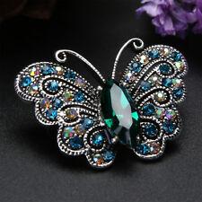 Lovely Women Rhinestone Butterfly Shape Metal Brooch Badge Pin Fashion Jewelry