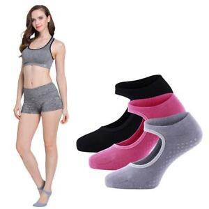 Non Slip Women Cotton Socks Yoga Barre Socks Skid Barre Pilates Ballet Socks New