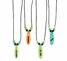 12 Surfboard Necklaces Girl's and Boy's Party Favors Luau Beach Pool