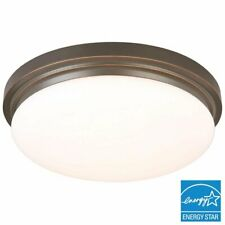 Hampton Bay 15 in. Oil-Rubbed Bronze LED Flushmount