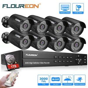 1TB 8CH 3000TVL1080P DVR CCTV Außen Überwachungskamera set Videoüberwachung Kit
