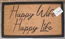 Happy Wife Happy life - Natural Coir Door Mat
