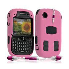 Housse étui coque rigide pour BlackBerry Curve 8520 couleur rose + Kit Piéton +
