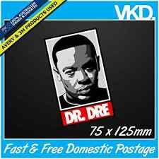 Dr Dre Sticker/ Decal - Straight Outta Compton Eazy E Ice Cube NWA Beats RAP Car