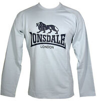"LONSDALE MEN'S LONG SLEEVE TEE T SHIRT PALE BLUE SIZE M - SMALL FITTING 38"" BNWT"