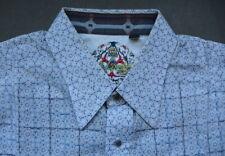 Robert Graham Embroidered Shirt XL Blue Floral