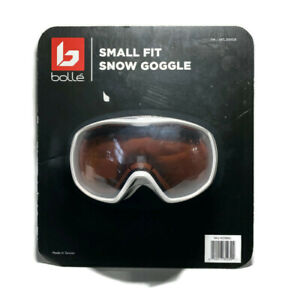 Bolle Youth Double Lens Vented White Small Fit Snow Goggles w Bag Ski Snowboard