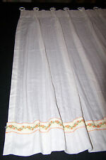 "PAIR VTG White Semi Sheer Pinch Pleated Cafe Curtain Panels w/Rings -24"" x 35"""