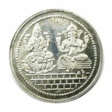 Pure Silver 999 Laxmi Ganesha Religious coin MMTC India - pre owned