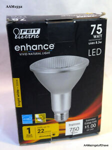 FEIT LED FLOOD Bulb 8.3 Watt 3000K  75 Watt Equivalence 20K HOURS NEW