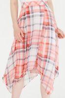 Tommy Hilfiger Womens Pink Size 10 Handkerchief Asymmetrical Plaid Skirt $89 636