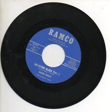 AARON BAILEY 45 RPMRecord INFLATION BLUES PARTS 1 & 2 Nver Played R&B FUNK RAMCO